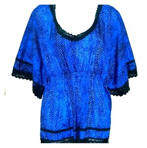 NWOT Plus Size 3X Peplum Style Dressy Blouse Top